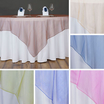"24 x Wholesale Lot Organza 60x60"" SQUARE Table OVERLAYS Toppers Wedding Party"