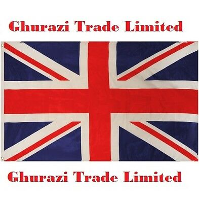 Union Jack Flag Great Britain British Large  5 X 3Ft Brand New Flag Fast Post