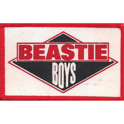 Beastie Boys Men's Logo 1 Screen Printed Patch Red