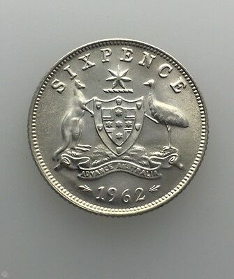 1962 Sixpence Brilliant Uncirculated Ex Roll Coins