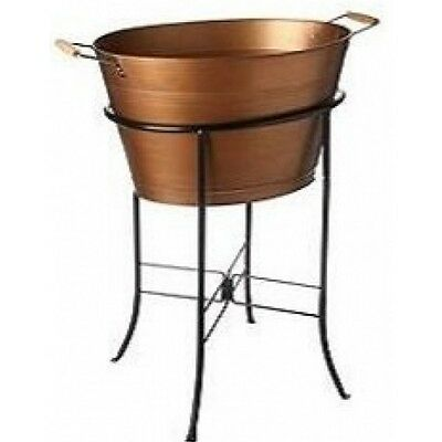 tub stand with extra copper antique large beverage pebbled