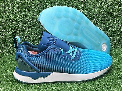 dda88e48d8fc8 New Adidas Original Zx Flux Adv Asymmetrical Mens Shoe Blue Glow mineral  S79056