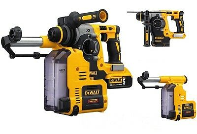 DEWALT Professional 20V Max Brushless SDS Rotary + Hammer Dust Extractor Heavy