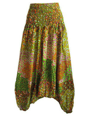 ฺNew Hippie Genie Alibaba Boho Baggy Harem Pants Trouser Beach Unique PH16 Green