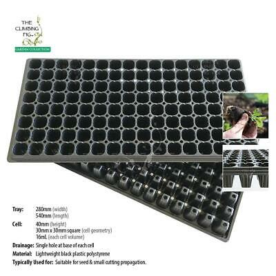128-cell Black SEEDLING PLUG TRAY pack | Propagation of plant seeds & cuttings.