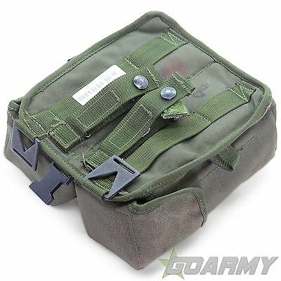 British Army Combat 90 Olive Double Magazine Pouch With Clips