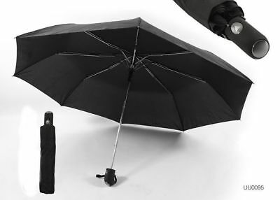 Drizzles Black Automatic Umbrella UU95