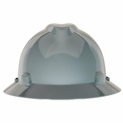 MSA 475367 V-Gard Slotted Full-Brim Protective Hat with Fas-Trac Suspension,