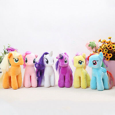 Dolls 12 My Little Pony Cute Horse Action Loose Figure Kids Plush Toy