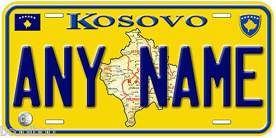 Kosovo Any Name Personalized Auto Tag Novelty Car License Plate B01