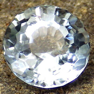 UNTREATED BLUE TOPAZ-NAMIBIA 3.76Ct TOP COLLECTOR GRADE-PERFECT FACETING!