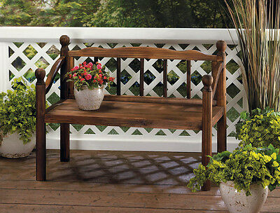 Awe Inspiring Rustic Wood Bench Plant Stand Outdoor Wooden Planter Patio Pabps2019 Chair Design Images Pabps2019Com