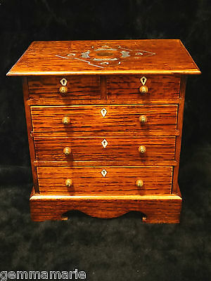 Miniature Antique dresser Chest Drawers cabinet salesman sample Museum quality