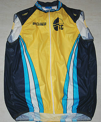 Bio Racer Sleeveless Jersey Vest Full Zip Mesh Back Breathable Yellow Blue L 5