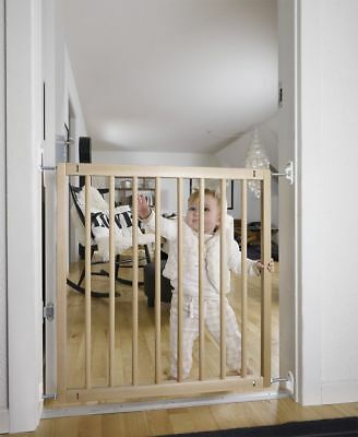 Wooden Door Safety Stair Gate Barrier for Baby Kids Toddlers Dogs Secure Sturdy