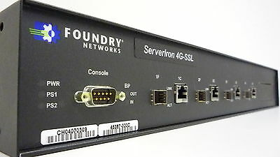Foundry ServerIron SI-4G-SSL Load Balancer Enterprise Ethernet Switch