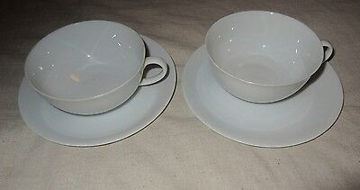 Set Of Two Tea Cups And Saucers By Arsberg Germany*