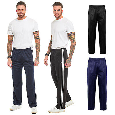 Mens Silky Jogging Bottoms Striped Joggers Gym Sports Tracksuit Pants Trousers