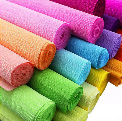 Crepe Paper Streamer Roll Wedding Birthday Party Supplies Children handmade