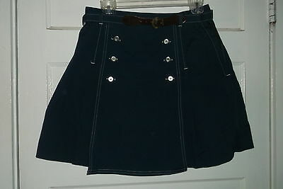 Lady Gator Navy Vintage Skort Button Trim Usa Girls 18 Matching Belt