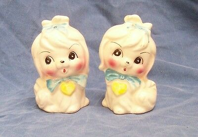 Vtg Maltese Lefton Dog Mr Toodles  Puppies  Japan Salt & Pepper Shakers
