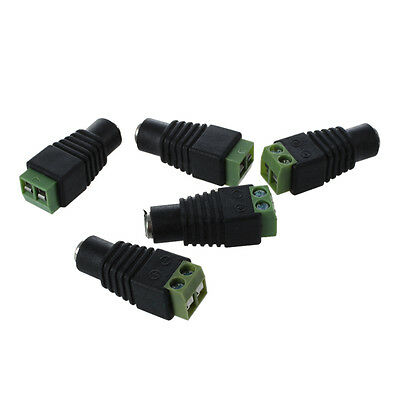 5X DC Power Female Jack 5.5X 2.1mm Connector Cable Adapter Plug CCTV Camera SP