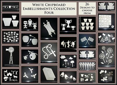 White Chipboard - Embellishments - Collection Four