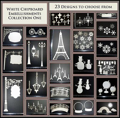 White Chipboard - Embellishments - Collection One