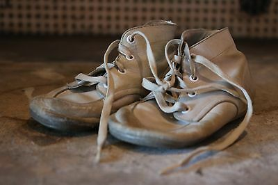 Vintage White Leather Child's Shoes