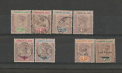 Leeward Islands QV Mint and Used Selection