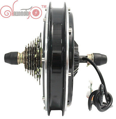 48V 1200W Threaded Brushless Gearless Hub Motor Rear Wheel Electric Bicycle