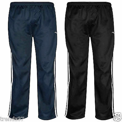 Kids Boys Silky Tracksuits Bottoms Sports Striped Jogging Pants Casual Trousers