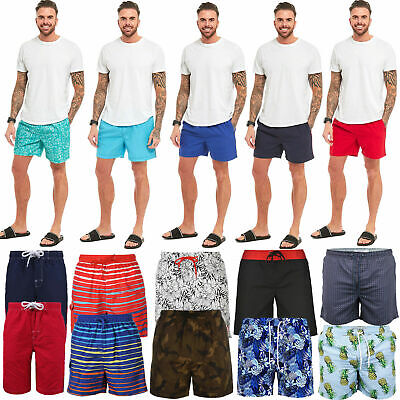 Mens Swimming Shorts Casual Summer Holiday Beach Running Gym Sports Swim Trunks