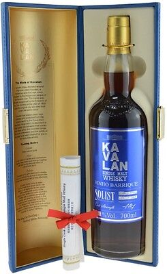 Kavalan Solist Vinho Barrique Single Cask Strength AWARD WINNER with award cert