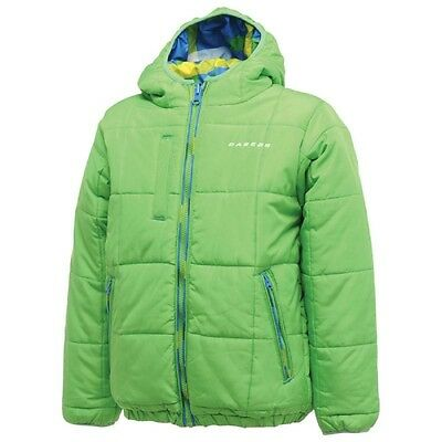 Dare2b Indecisive Women's Quilted Padded Hooded Hi-Loft Reversible Jacket Green