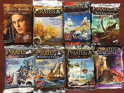 Wizkids Pirates Miniatures Game : 8 Booster Pack Lot New Sealed