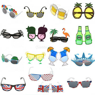 Hawaiian Fancy Dress Costume Party Glasses Beach Sunglasses Paw Beer Birthday