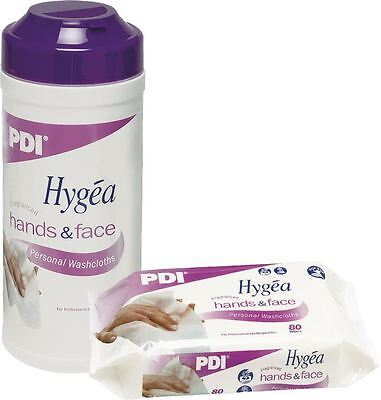 PDI Hygea Hands & Face Wipes, Pack of 80