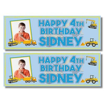 2 Personalised Teenage Mutant Ninja Turtle Birthday Banners