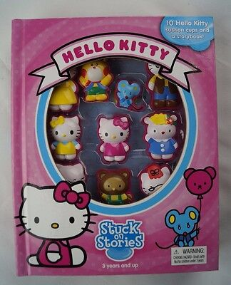 Hello Kitty Stuck On Stories 10 Character Suction Cups Storybook Sanrio New 2013