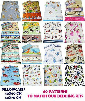 Patterned Pillowcase 40x60 cm, 50x70 cm, 100% cotton - 60 patterns in stock