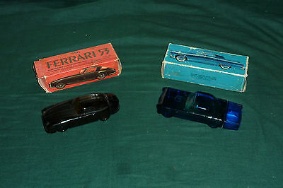 2 Avon Collectable Car Cologne Bottles 55 Thunderbird & 53 Ferrari Full W/ Boxes