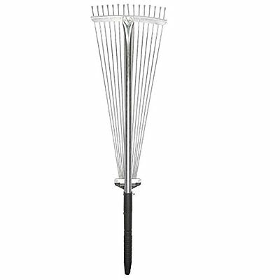 Expandable Steel Gardening Rake - Lightweight With Electrophoresis Handle