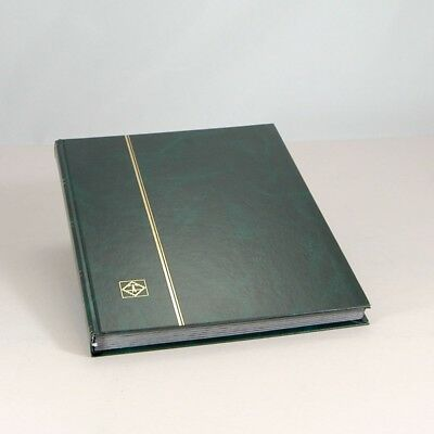 Lighthouse Hardcover Stamp Album Stockbook With 32 Black Pages, Green, LS4/16