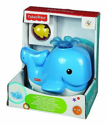 NEW Fisher-Price Spray and Lights Bath Whale Toy Playset Baby Floats Lights