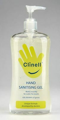 Clinell Hand Sanitising Gel - 500ml Pump (Developed to kill 99.999% of germs)