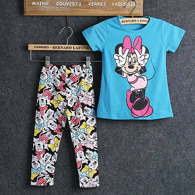 Baby Kids Girls Top and Pants Leggings Outfit Minnie Mouse 2 Pcs Clothes Set