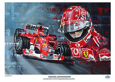 MICHAEL SCHUMACHER A3 limited print by Greg Tillett FORMULA 1 COLLECTABLE