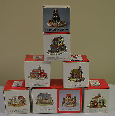 LIBERTY FALLS COLLECTION LOT of 8 HOUSES Figurine