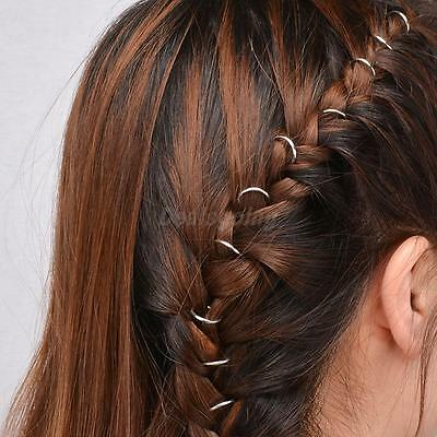 Chic DIY Braid Hairstyle Hair Clips Hair Embellishments with Golden Circles